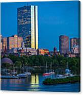 Boston By Night Canvas Print