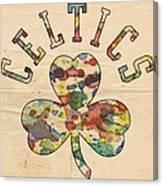 Boston Celtics Poster Art Canvas Print