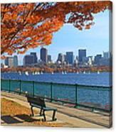 Boston Charles River in Autumn Canvas Print