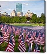 Boston Common Flags Canvas Print