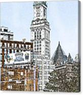 Boston Custom House Tower Canvas Print