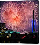 Boston Fireworks 1 Canvas Print
