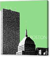 Boston Hancock Tower - Sage Canvas Print