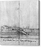 Boston Harbor, 1778 Canvas Print