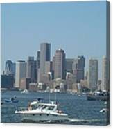Boston Harbor July Fourth Canvas Print