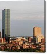 Boston John Hancock Tower Skyline Canvas Print