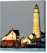 Boston Light Canvas Print