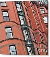 Boston Ma Building Facade Canvas Print