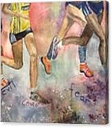 Boston Marathon Strength Canvas Print