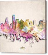 Boston Painted City Skyline Canvas Print
