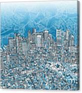 Boston Panorama Abstract 2 Canvas Print