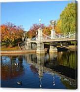 Boston Public Garden Autumn Canvas Print
