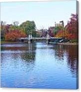 Boston Public Garden Lake Canvas Print