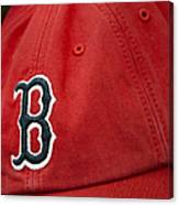 Boston Red Sox Baseball Cap Canvas Print