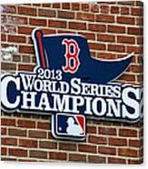 Boston Red Sox World Champions Canvas Print