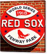 Boston Red Sox World Series Champions 1918 Canvas Print