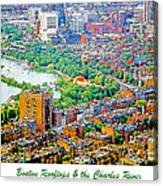 Boston Rooftops And The Charles River Canvas Print