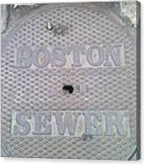 Boston Sewer Canvas Print