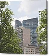 Boston Skyline Among The Trees Canvas Print