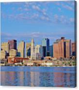 Boston Skyline And Harbor, Massachusetts Canvas Print