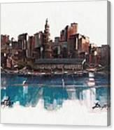 Boston Skyline  Number 1 Canvas Print