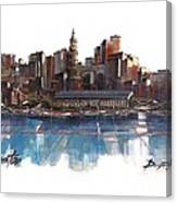 Boston Skyline  Number 3 Canvas Print