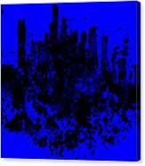 Boston Skyline Paint Splash 2 Canvas Print