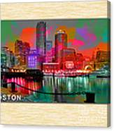 Boston Skyline Painting Canvas Print