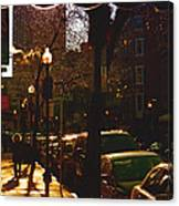 Brisk Walk On Hanover Street - Boston Canvas Print