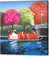 Boston Swan Boat Canvas Print