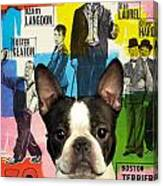 Boston Terrier Art - 30 Years Of Fun Movie Poster Canvas Print