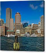 Boston Waterfront Skyline Canvas Print