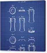 Bottle Cap Patent 1899- Blueprint Canvas Print