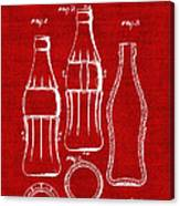 Bottle Support Patent Drawing From 1937 3 Canvas Print