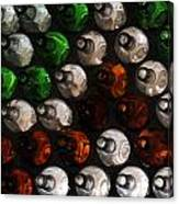 Bottle Wall Canvas Print