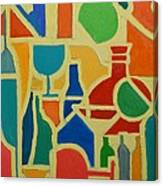 Bottles And Glasses 2 Canvas Print