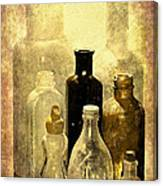 Bottles From The Past Canvas Print