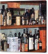 Bottles In General Store Canvas Print