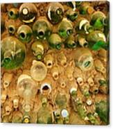 Bottles In The Wall Canvas Print
