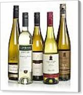 Bottles Of New Zealand Wine Canvas Print