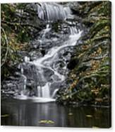 Bottom Half Of Tannery Falls Canvas Print