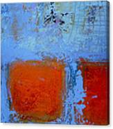 Bottom Orange Canvas Print