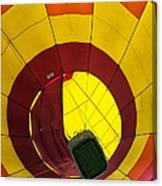 Bottoms Up Hot Air Balloon Canvas Print