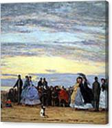 Boudin's The Beach At Villerville Canvas Print