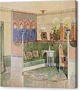 Boudoir, From A Villa In Helsinki Canvas Print