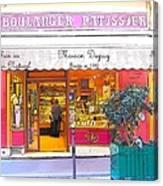 Boulangerie Patisserie In Paris Canvas Print