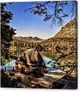 Boulder At Fallen Leaf Lake Canvas Print