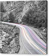Boulder Canyon Drive And Selective Commute  Canvas Print