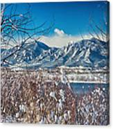 Boulder Colorado Winter Season Scenic View Canvas Print