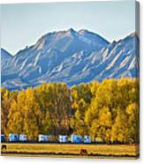 Boulder County Colorado Flatirons Autumn View Canvas Print